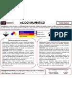 Fichas de Manejo Del Acido Muriatico
