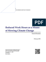 Reduced Work Hours as a Means of Slowing Climate Change