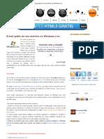 E-mail grátis em seu domínio no Windows Live.pdf