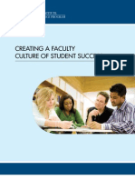 Creating A Faculty Culture of Student Success