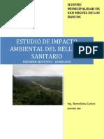 Estudio de Impacto Ambiental Del Relleno Sanitario