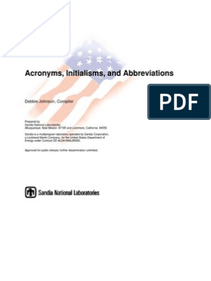 ACRONIMOS | Acronym | United States Air Force