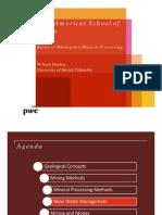 Pwc Basics of Mining 4 Som Mine Waste Management