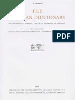 Dicionário Assírio - Volume VI - H