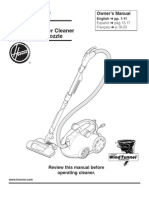 hoover windtunnel bagless canister vacuum manual