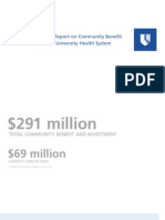 2013 Report on Community Benefit