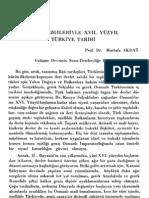 Mustafa Akdağ - Genel Çizgileriyle XVII. Yüzyıl Türkiye Tarihi