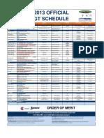 2013 Vancouver Golf Tour Event Schedule