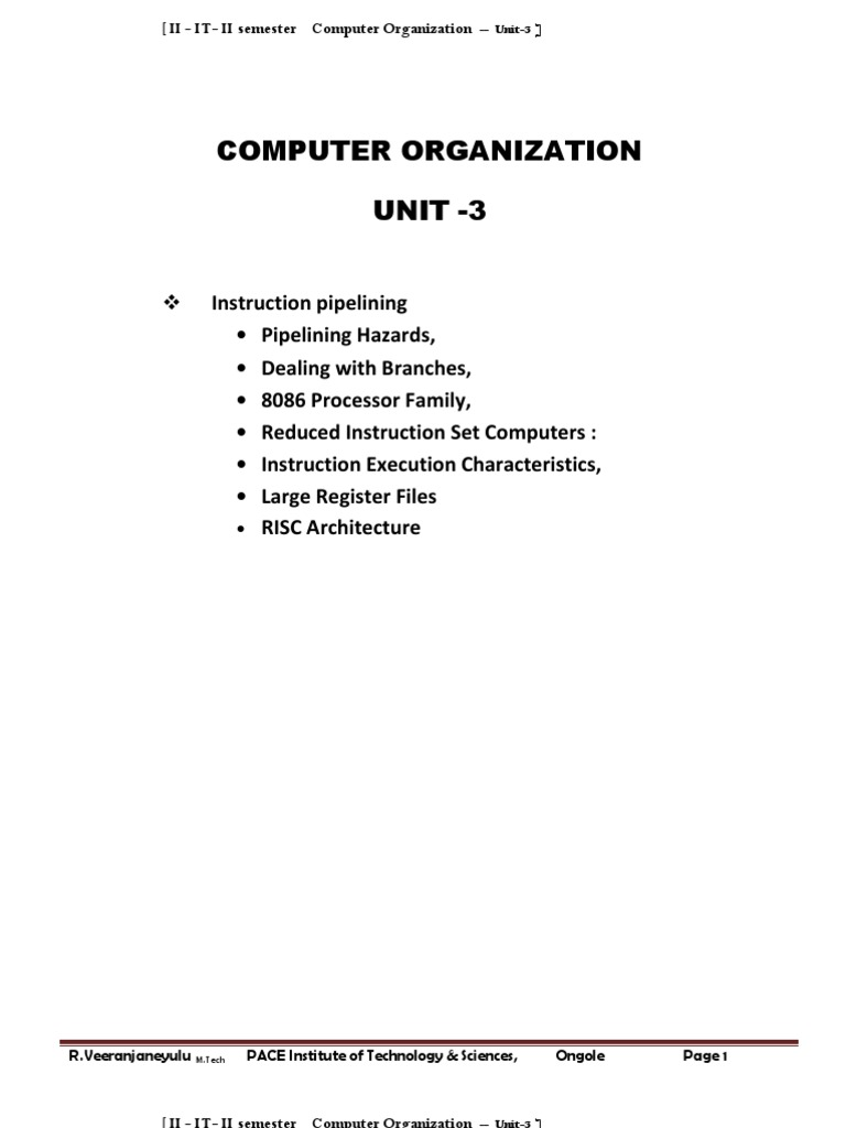 Counit3 Instruction Set Central Processing Unit
