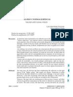 Valores y normas jurídicas (Luis Martínez Roldán)