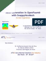 openfoam model snappyhexMesh tutorial