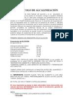 PROTOCOLO DE ALCALINIZACIÓN