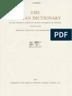 Dicionário Assírio - Volume X - M Parte 1