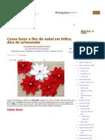 Como fazer a flor do natal em feltro, dica de artesanato _ Vila do Artesão
