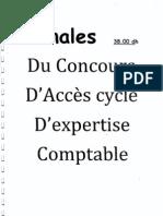 Les annales concours d_accès au cycle d_expertise comptable (1)