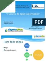 Fuentes de agua superficial en Uruguay - Ing. Raúl López Pairet
