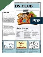 Kids Club Newsletter for Jan 2013