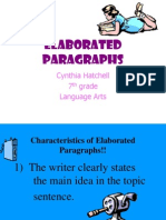 Elaborated Paragraphs .ppt