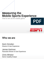 Measuring the Mobile Experience