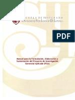 Manual Para Elborar Proyectos Usil