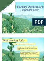 Deviatia Standard si Eroarea Standard