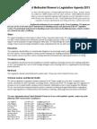 UMW 2013 Legislative Agenda