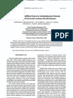 Isolasi dan Identifikasi Senyawa Antioksidan dari Ekstrak Benalu Teh (Scurulla oortiana) (Simanjuntak et al 2004)