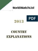 World Watch List 2013 - Comprehensive Report