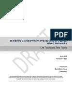 Windows 7 Deployment Procedures in 802 1X Wired Networks