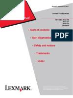 Lexmark XS463 Service Manual