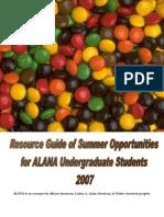 Summer Opportunities for Undergrads