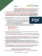 Glacier Tax User Guide