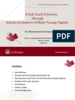 Bladed Disk Crack Detection through Advanced Analysis of Blade Passage Signals