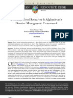 Potential Flood Scenarios & Afghanistan's Disaster Management Framework