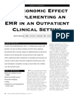 the economic effect of implementation an EMR in an outpatient clinical setting