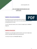 Sandra Ortega, frases destacadas. El Alquimista Impaciente.