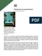 Bellavance, G., Goulet, R.M. E. (2010) « L'art public à Montréal, un grand absent »