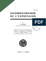 Jean Bobon, Psychopathologie de l'expression