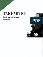 Takemitsu-Les Yeux Clos I