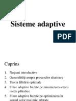 TAPDS Curs 3 Sisteme adaptive Introducere