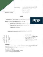 MDJ Wenner's Order of Court