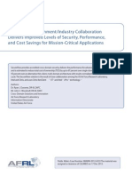 Government/Industry Collaboration Delivers Improved Levels of Security, Performance, and Cost Savings for Mission-Critical Applications
