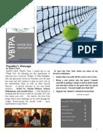 Virginia Beach Tennis Patrons Association - VBTPA newsletter