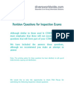 Revision questions for cswip exams