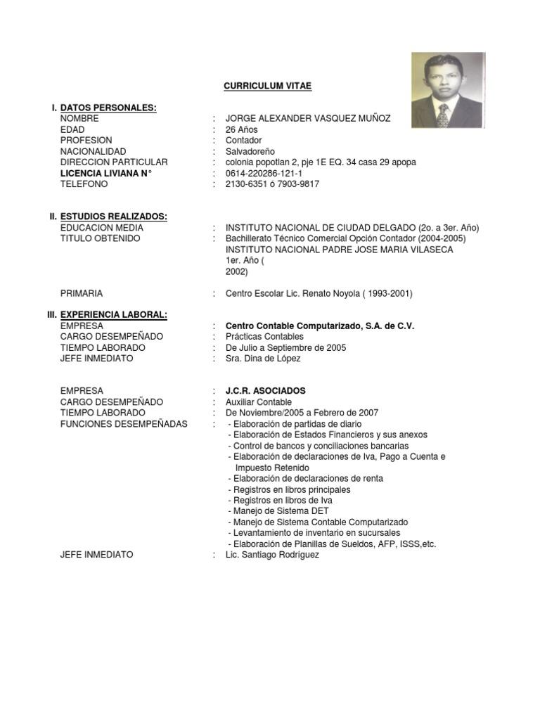 Excelente Contador Jefe Resume Fotos - Colección De Plantillas De ...