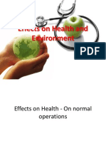 Effects on Health and Environment of Nuclear Reactors