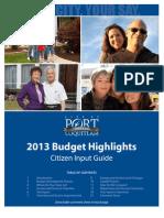 City of PoCo Budget 2013 Booklet