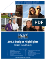 City of PoCo Budget 2013 Booklet