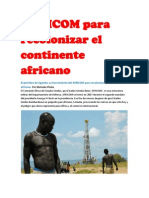 AFRICOM para recolonizar el continente africano.docx