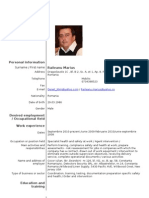 Model Cv Curriculum Vitae European Engleza